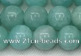 CAM1692 15.5 inches 8mm round natural amazonite gemstone beads