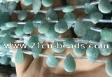 CAM1697 Top drilled 10*14mm faceted briolette amazonite beads