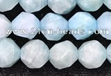 CAM1706 15.5 inches 8mm faceted nuggets amazonite gemstone beads