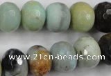 CAM174 15.5 inches 12*16mm faceted rondelle amazonite gemstone beads