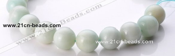 CAM23 15.5 inches natural amazonite round 20mm beads Wholesale