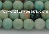 CAM323 15.5 inches 10mm round natural peru amazonite beads