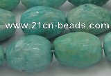 CAM342 15.5 inches 13*18mm faceted nuggets natural peru amazonite beads