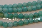 CAM351 15.5 inches 6mm round natural peru amazonite beads wholesale