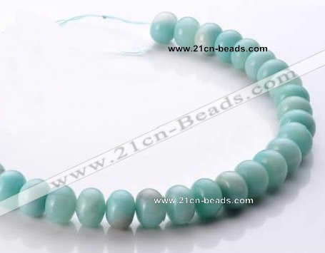 CAM36 10*14mm natural amazonite rondelle beads Wholesale