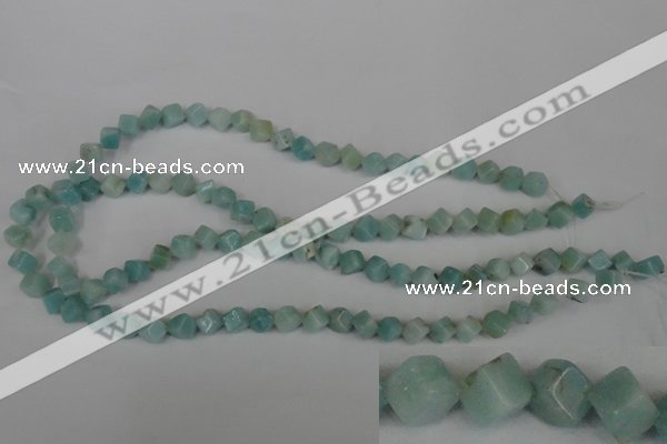 CAM617 15.5 inches 6*6mm cube Chinese amazonite gemstone beads