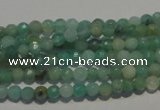 CAM810 15.5 inches 4mm faceted round Brazilian amazonite beads