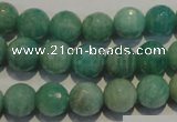 CAM814 15.5 inches 10mm faceted round Brazilian amazonite beads
