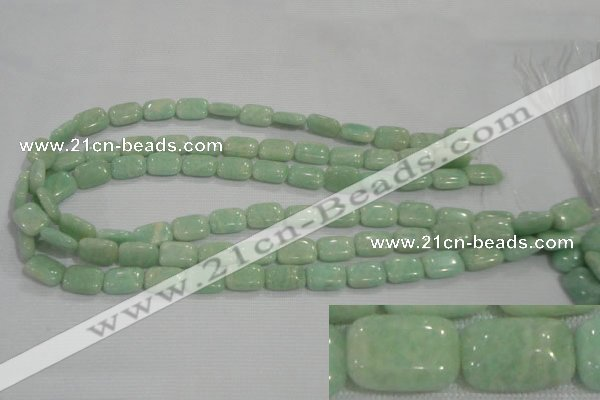 CAM852 15.5 inches 10*14mm rectangle natural Russian amazonite beads