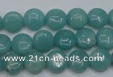 CAM914 15.5 inches 10mm flat round amazonite gemstone beads wholesale
