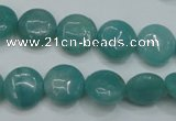 CAM915 15.5 inches 12mm flat round amazonite gemstone beads wholesale