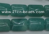 CAM934 15.5 inches 13*18mm rectangle amazonite gemstone beads wholesale