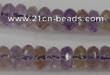 CAN159 15.5 inches 5*8mm faceted rondelle natural ametrine beads