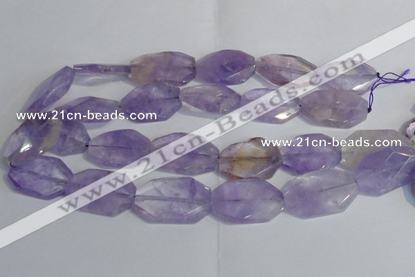 CAN175 20*30mm - 25*35mm twisted & faceted freeform ametrine beads