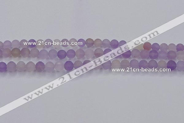 CAN202 15.5 inches 8mm round matte ametrine beads wholesale