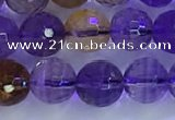 CAN225 15.5 inches 7mm faceted round ametrine beads wholesale