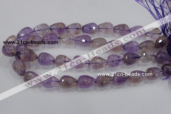 CAN25 15.5 inches 15*20mm faceted teardrop natural ametrine beads