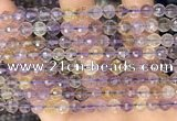 CAN252 15.5 inches 6mm pumpkin ametrine gemstone beads