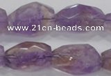 CAN30 15.5 inches 18*25mm faceted nugget natural ametrine beads