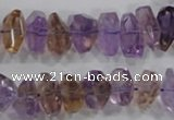 CAN31 15.5 inches 8*18mm faceted nugget natural ametrine beads