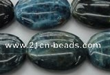 CAP327 15.5 inches 22*30mm oval natural apatite gemstone beads