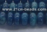 CAP371 15.5 inches 6*10mm rondelle apatite gemstone beads
