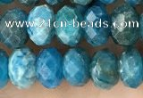CAP656 15.5 inches 5*8mm faceted rondelle apatite gemstone beads