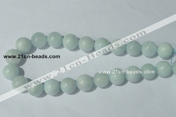 CAQ207 15.5 inches 18mm round natural aquamarine beads wholesale