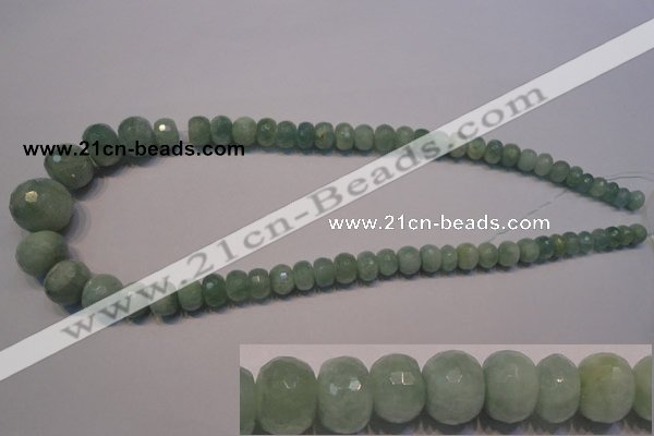 CAQ310 15.5 inches 6*8mm – 15*20mm faceted rondelle aquamarine beads