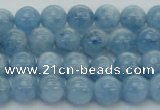 CAQ526 15.5 inches 5mm round AA+ grade natural aquamarine beads