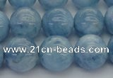 CAQ540 15.5 inches 14mm round AAA grade natural aquamarine beads