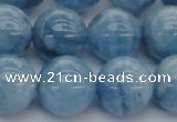 CAQ548 15.5 inches 14mm round AAAA grade natural aquamarine beads