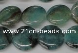 CAQ621 15.5 inches 16mm flat round aquamarine gemstone beads