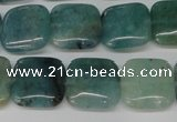 CAQ637 15.5 inches 12*12mm square aquamarine gemstone beads