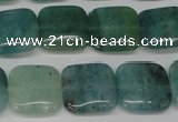 CAQ638 15.5 inches 14*14mm square aquamarine gemstone beads