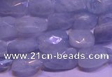 CAQ651 15.5 inches 8*12mm - 10*14mm faceted freeform aquamarine beads