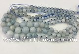 CAQ846 15.5 inches 6mm - 16mm round aquamarine graduated beads