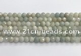 CAQ912 15.5 inches 8mm faceted round aquamarine beads wholesale
