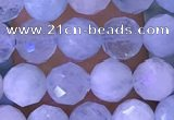 CAQ920 15.5 inches 5mm faceted round aquamarine gemstone beads