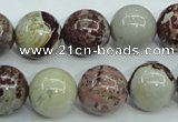 CAR06 15.5 inches 14mm round artistic jasper beads wholesale
