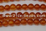 CAR111 15.5 inches 4mm round natural amber beads