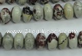 CAR12 15.5 inches 6*10mm rondelle artistic jasper beads wholesale