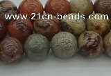 CAR352 15.5 inches 8mm round red artistic jasper beads wholesale