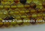 CAR500 15.5 inches 4mm - 5mm round natural amber beads wholesale