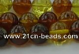 CAR503 15.5 inches 9mm - 10mm round natural amber beads wholesale