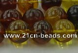CAR505 15.5 inches 12mm - 13mm round natural amber beads wholesale