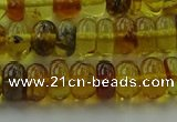 CAR538 15.5 inches 5*8mm rondelle natural amber beads wholesale