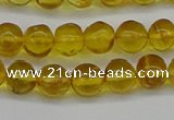 CAR551 15.5 inches 6mm - 7mm round natural amber beads wholesale