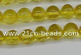 CAR555 15.5 inches 4mm - 5mm round natural amber beads wholesale
