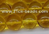 CAR566 15.5 inches 13mm - 14mm round natural amber beads wholesale